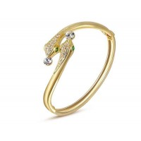 Discount jewelry selling jewelry in Europe and the US market crystal 18K gold double snake bracelet shape snuggle