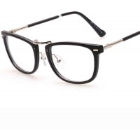 Classic small box plain mirror glasses frame plain glass spectacles student Men Women glasses 8071
