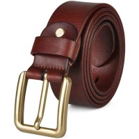 Promotional first layer of leather belt men's bronze belt men belt