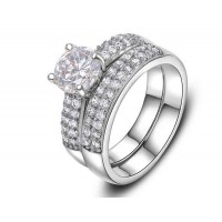 European and US markets lower prices selling jewelry jewelry discount jewelry hot models double diamond set platinum ring