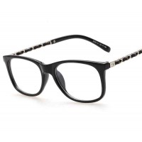 8048 new style lady fashion elegant full frame glasses plain mirror classic small box discount