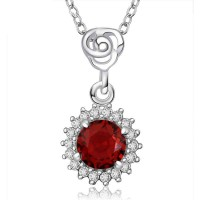 Low price discounts pendant European market and the US market zircon pendant silver necklace hot sales ladies fashion jewelry