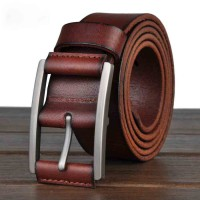 Brand Promotion Men first layer of leather men's double-headed water foreskin retro leather belt leather men's belts