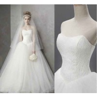 European market and the US market attractive low price new style white wedding dress high-end custom bridal discount sales