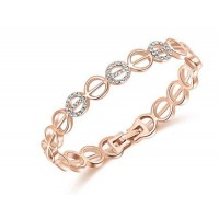 European and US markets fashion jewelry hollow Ms. discount jewelry alloy rose gold bracelet round fast delivery