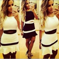 Hot selling multi-colored low-cut vest sexy horn pants two-piece womens autumn