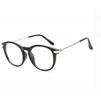 8088 promotional new style plain mirror popular retro round glasses plain glass spectacles discounts