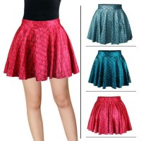 Hot selling all match Star pattern princess dress printed skirt fashion color scale chord line skirt waist folds