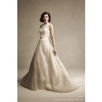 The new high-end models lace wedding dress sexy lace printing package printing shoulder long tail wedding