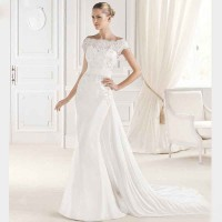 Straight lines shaped shoulder wedding bride wedding low-price high-end fashion market in Europe and the US markets bride elegant handmade custom wedding