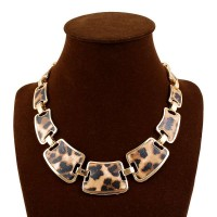 European market and the US market fashion jewelry lady temperament short style gilt wind leopard collarbone chain