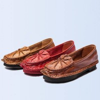 Promotional leather shallow mouth flat shoes shoes shoes hot sales support fast delivery