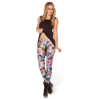 The new fashion models in Europe and the US market style Star Pattern Leggings Leggings Tights pattern print all match tight pants feet