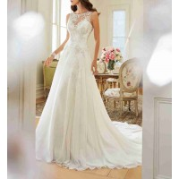 Spring new style low price bride wedding dresses and styles of Europe long tail wedding US market high-end A word Promotions