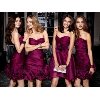 The new style evening dress short style of bridesmaid dresses cut dress performance dress discount sales