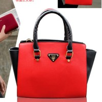 2016 new ladies bag leather Shiling low price big bag Messenger bag handbag stitching wings