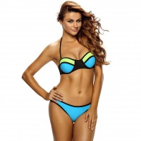 Spring new style sexy bandage type with a chest pad steel prop split swimwear bikini Chromic 41079