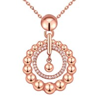 Popular promotional popular in Europe and the US market vintage jewelry rose gold necklace low price discounts Ms. 18K jewelry