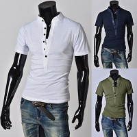 Low prices discounted access colorful men's casual short-sleeved t-shirt Slim