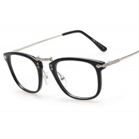 Promotional new models big box retro plain mirror glasses frame glasses discount 8108 Men Women