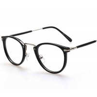 Popular retro round glasses plain mirror Men Women rapid sales of plain glass spectacles discount 8107