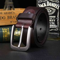 Promotions Online shopping Men's leather belt high quality products with top material cowhide belt wild retro leather belt