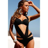 Ms. summer new style halter swimsuit with a chest pad steel prop piece swimsuit 41232