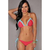 Bikini Summer new models with a chest pad without steel Tuoxia Day beaches irregular split swimsuit 41206