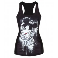Slim fashion summer classic all match slim long word vest style vest digital printing