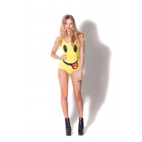 Fashion Star Hip-Hop smiley face pattern cute swimsuit triangle bathing suit piece swimsuit 3D prints