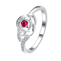 Silver CZ Ring low price European market and the US market rose creative style ring jewelry promotional discounts