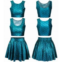European market and the US market hot selling 3D printing Seiko half vest princess skirt suit Ms. skirt suit fast delivery