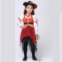 Halloween childrens clothing performance clothing dance clothing suit cosplay pirate costume Promotions