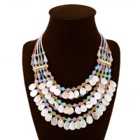 European market and the US market exaggerated fashion color shell necklace jewelry fast delivery