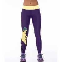 European market and the US market womens new style hooded dog printing tight pants high elastic leggings personalized yoga