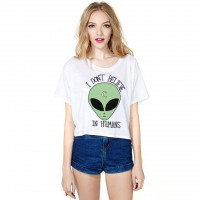 Promotions hot selling digital printing alien style lo shi short half sleeve T-shirt all match shirt selling fast