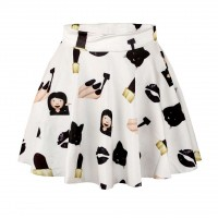 Skirt princess dress low price mjoy expression series printing skirts slim skirt A shape Promotions