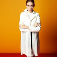 The new style long-sleeved solid color fashionable ladies jackets Spring fashion single-breasted jacket lapel stitching