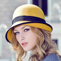 Autumn and winter new style lady hat lady hat winter hat wool material warm hat