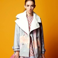 European market and the US market lower prices of the original single autumn new style lady fashion style printed long thick coat lapel Ms. formula
