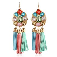 Crystal earrings new style fashion style long tassel earrings earrings hand-woven promotional discounts