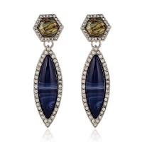 Limited discount European market and the US market discounts exaggerated earrings earrings drop shape modern blue gemstone earrings