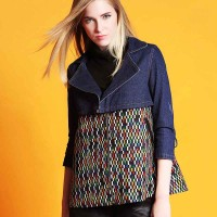 Autumn new models in Europe station Miss Gao Duan stream printing fashion Slim lapel long-sleeved style jacket Ms. Qiu