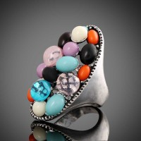 European market and the US market fashion jewelry colored gemstone jewelry rings can ring like a cat's eyes, like fast delivery Ladies Accessories