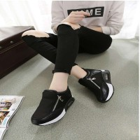 Fast delivery ladies shoes, casual shoes plus velvet warm low internal damping shoes Miss Gao Gendi
