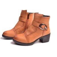 Promotional winter new style brand leather Ms. boots European market and the US market, Ms. Martin boots boots low price discount