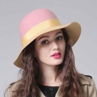 Ms. jazz hat autumn and winter popular in Europe and the United States market, small hat wide-brimmed felt hat wool material sub