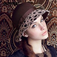 Popular new style warm autumn and winter hat in Europe and the US market fashion leopard small hat lady hat