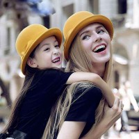 The new style autumn and winter in Europe and the US market fashion children hat lady hat wool material and her daughter paternity hat winter hat