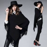 European stations autumn new style personality tassel vest casual sweater stitching big yards fast delivery
